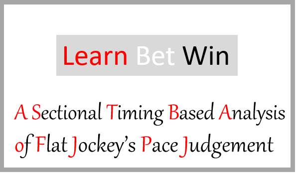 A Sectional Timing Based Analysis of Flat Jockeys Pace