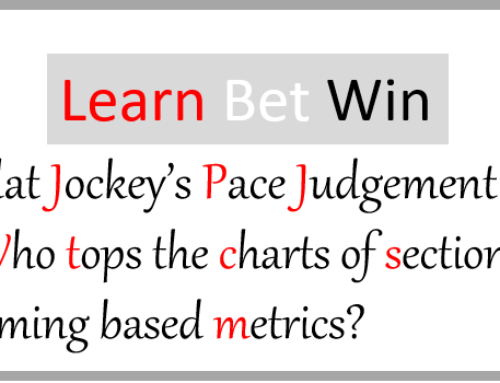 Flat jockeys pace judgement. Who tops the charts of Sectional Timing based metrics.